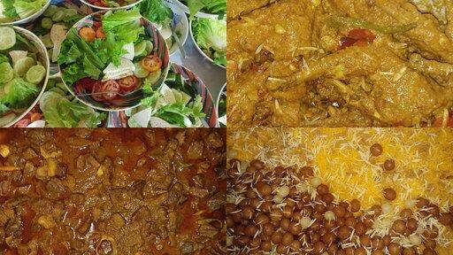 Beef Rezala Chicken Roast Jorda (Misti Guti) Salad