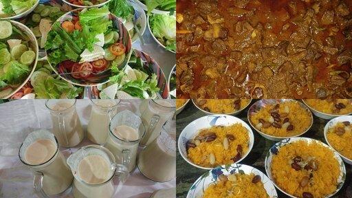 Chicken Tehari Jorda Beef Rezala